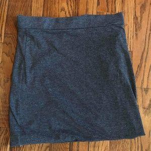 Ash grey mini skirt